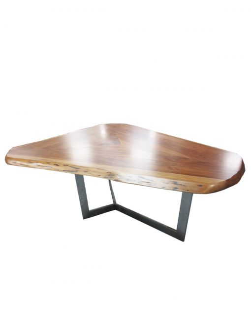 CUSTOM SOLID WALNUT TABLE + STEEL LEGS – 1