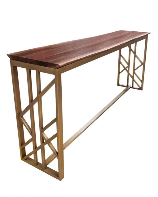 Custom_Solid wood table_Geometric base_ISA_International